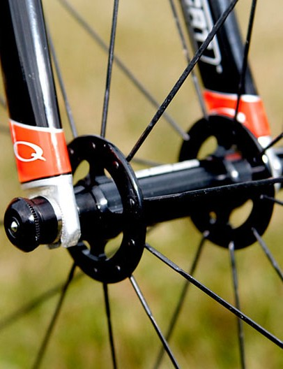 The FSA RD-488 carbon wheelset is aimed more specifically at the road but Trebon uses them with excellent success on the 'cross circuit, too - with just twenty spokes on the front wheel