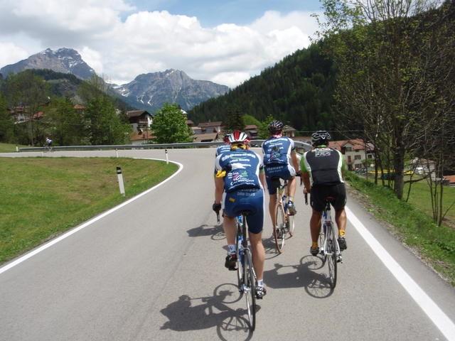 Tackling the Giro d'Italia Alps in 2008.
