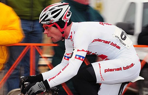 Jonathan Page races the recent US National Cyclo-cross Championships in Kansas City, Kansas.