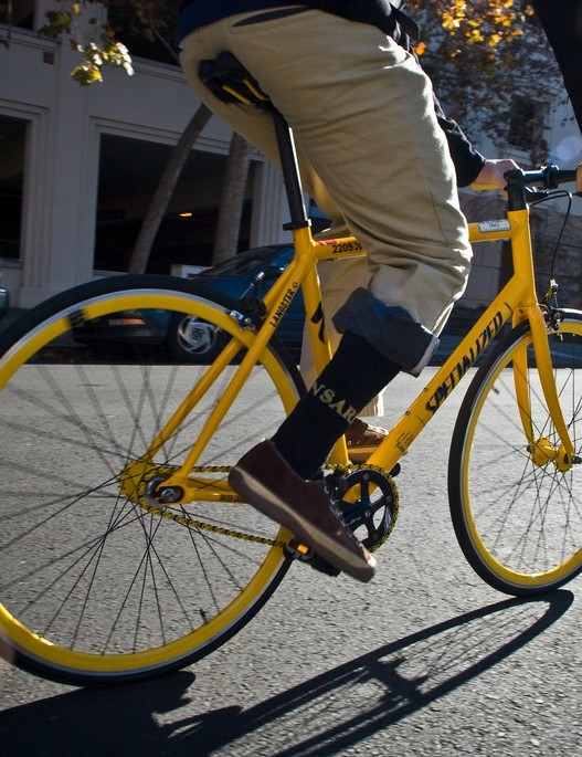 Cordarounds Bike-to-Work khakis are made in San Francisco.