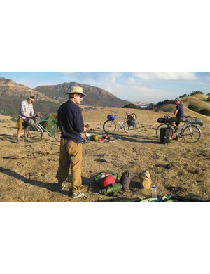 Overnight bike camping with the Rivendell gang on Mt Diablo in Walnut Creek, CA.