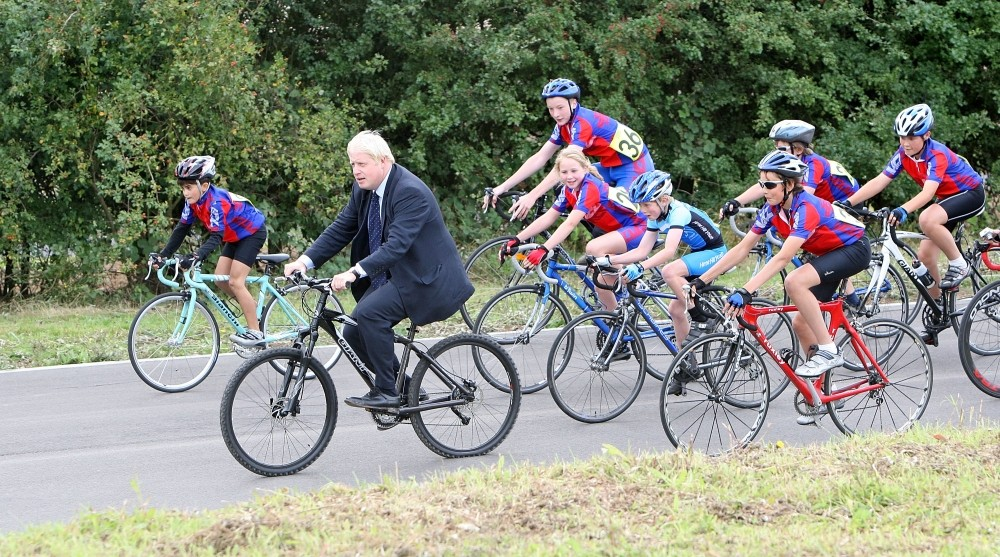 Mayor of London Boris Johnson at the opening of Redbridge Cycling Centre