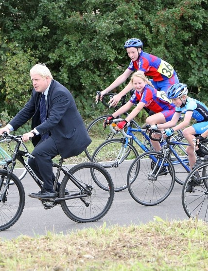 Mayor of London Boris Johnson at the opening of Redbridge Cycling Centre