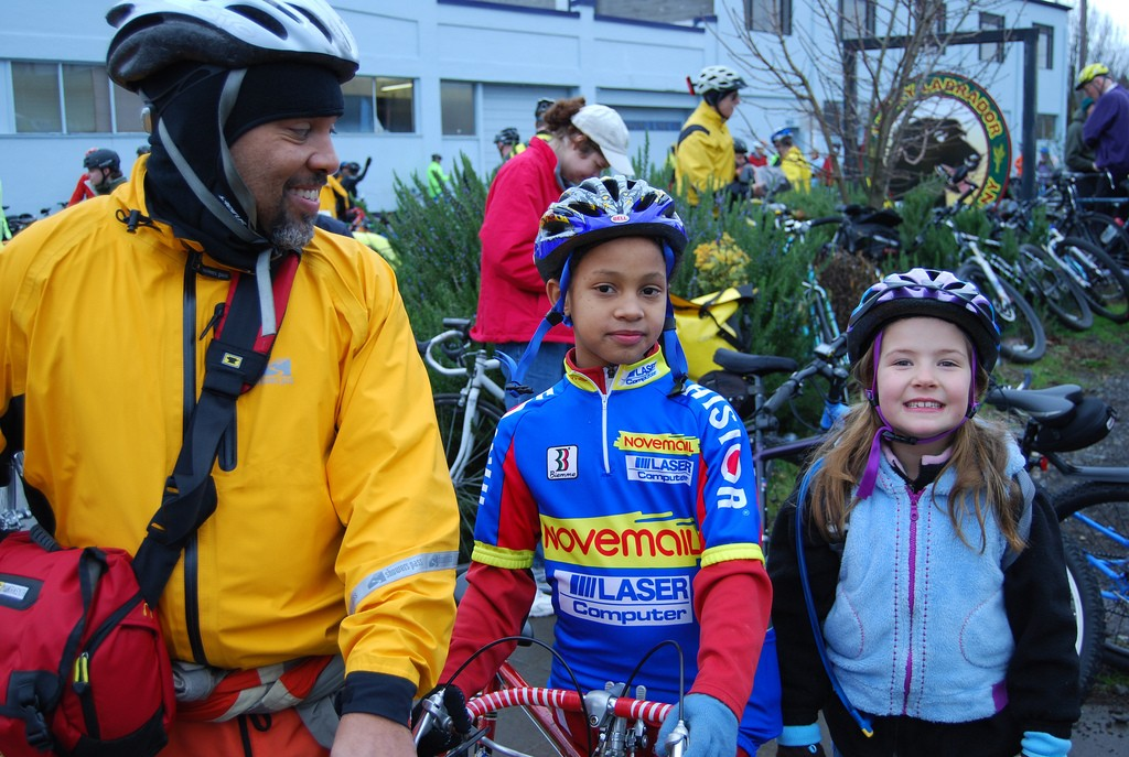 The annual Worst Day of the Year Ride attracts families from all around Portland, Oregon.