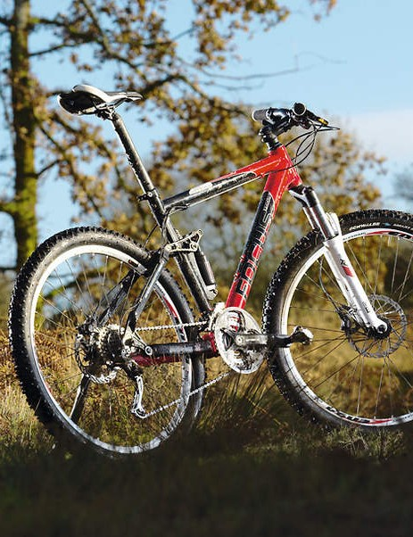 It's a steep, XC-style bike which jinks through singletrack well
