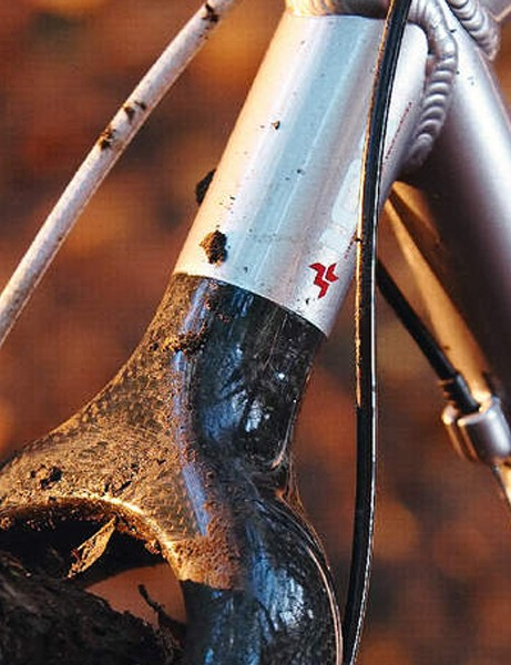 Seemless carbon wishbone for extra trail suppleness