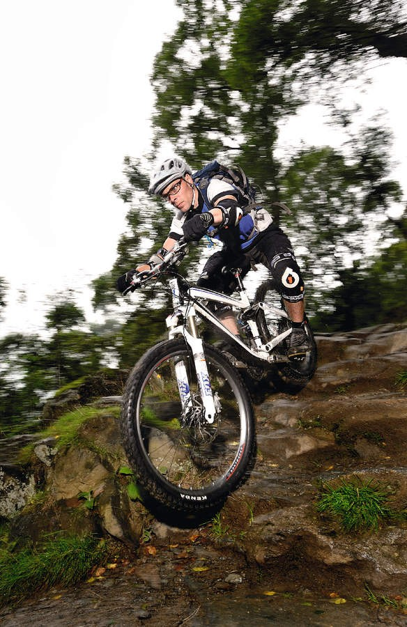 Being able to resist the strong temptation to grab the brakes will  improve your downhill ability no end