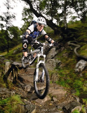 Speed is your friend over tricky terrain where you need to maintain momentum