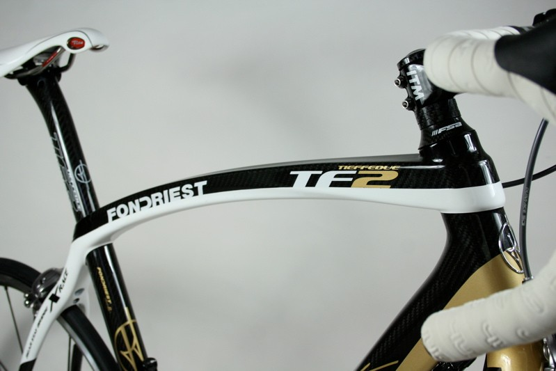 The top tube also has a square section to maintain the stiffness and fit in with the down tube's styling