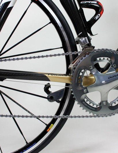 The drivetrain on our test bike was made up entirely of Shimano Dura-Ace.