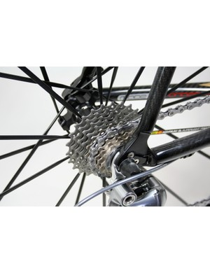 Our test bike was fitted with a versatile 12-25T cassette
