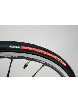 Vittoria Open Corsa Evo-CX tyres are the Italian company's top clinchers