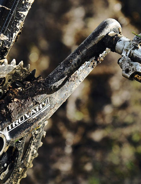 Truvativ cranks give punchy power transfer when you put your foot down