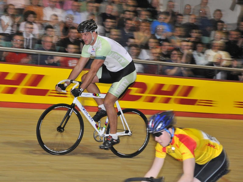 Former England rugby captain Martin Johnson raced at Revolution 20.