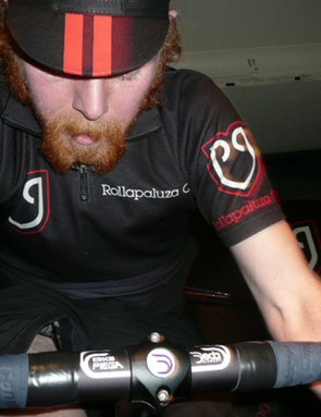 Representatives from cycling clubs compete in the winter league