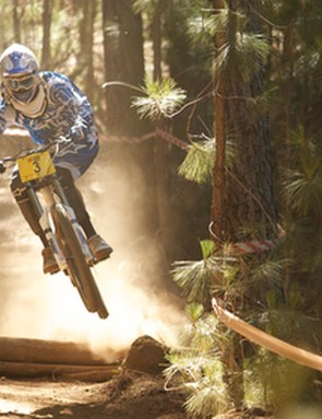 Andrew Neethling pushed the limits on his first run, which ended up giving him the winning time