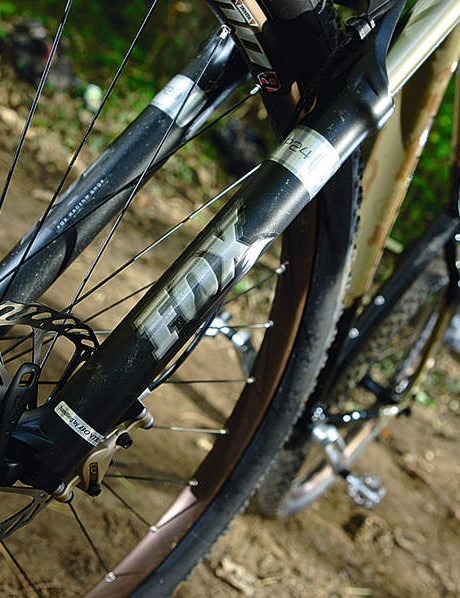 Fox forks keep the front dialled, whatever the rear's up to