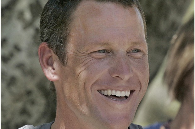 Lance Armstrong speaks to the press in Adelaide ahead of the Tour Down Under