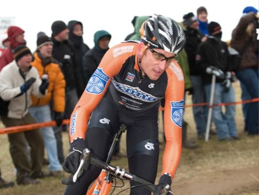 Ryan Trebon won the US men's elite national cyclo-crosc championships in Kansas City, Kansas in December, 2008.