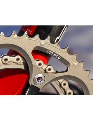 Chainrings are unchanged but still work well  with their array of multi-shaped teeth and assortment of pins and ramps.