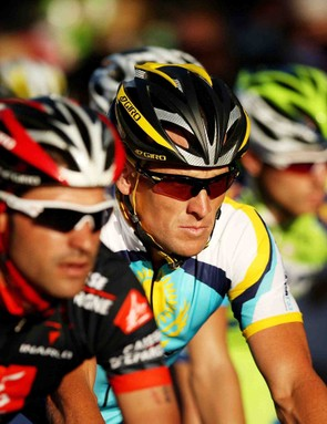 Lance Armstrong (Team Astana), in action during the Down Under Classic held on January 18, 2008 in Adelaide, Australia. The Down Under Classic criterium is held in conjuction with the Tour Down Under which begins on Tuesday.