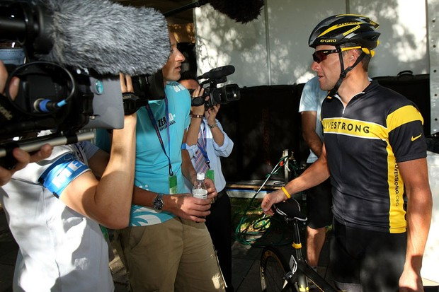 Armstrong has been a media sensation since arriving in Australia