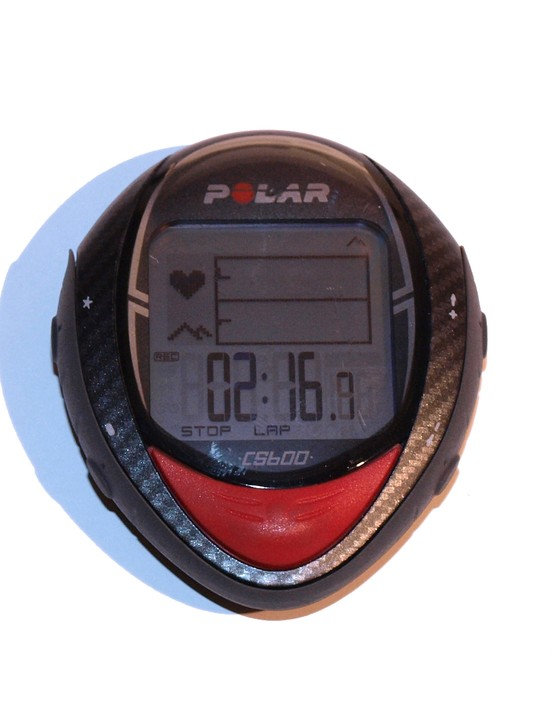 A real-time graph provides a quick visual indicator of heart rate and elevation information