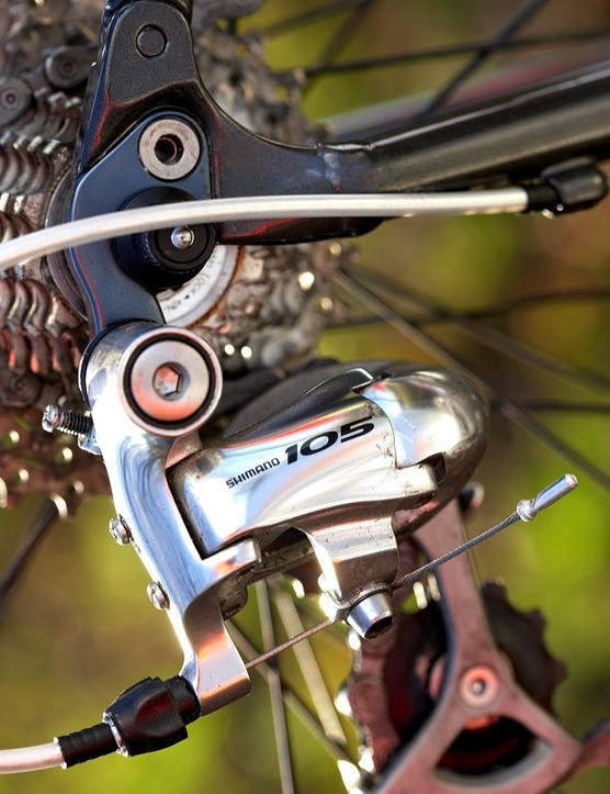 Shimano 105 gearing produces its usual exemplary performance.