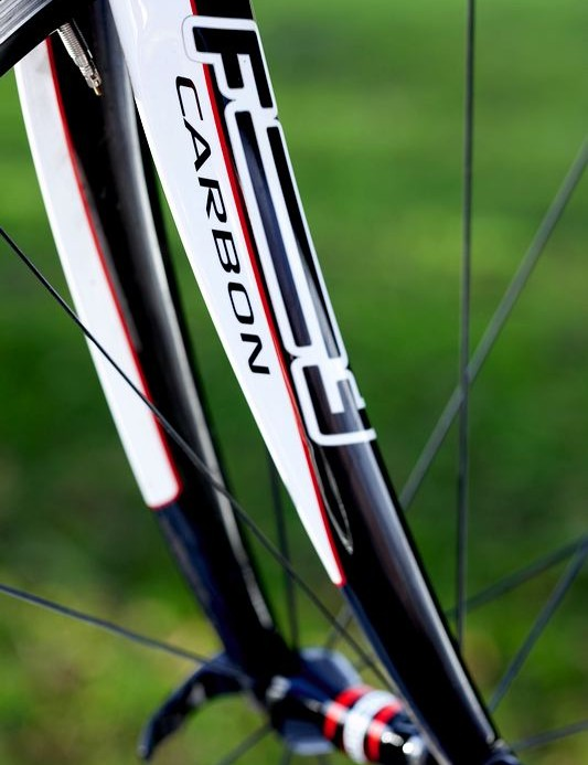 The matching fork is similarly engineered to the frame for rigidity.
