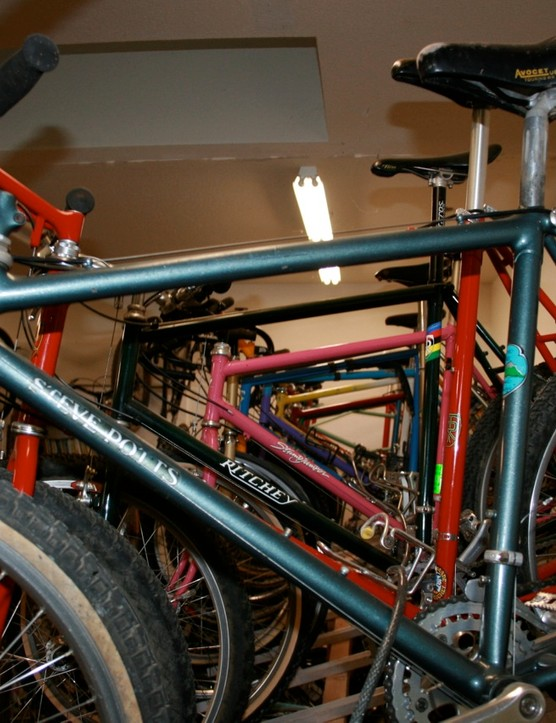 Rideable vintage bikes are always in fashion at Black Mountain Cycles.