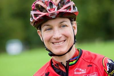 Canadian mountain bike racer Alison Sydor shows no signs of slowing.