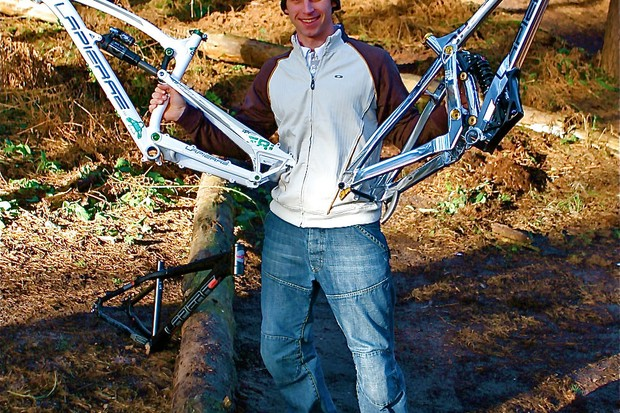 Will Longden with his new Lapierre race machines