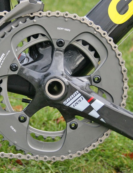 SRAM Red carbon fibre GXP chainset with ceramic bearing BB
