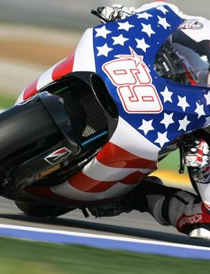 Nicky Hayden enjoying saddle time at his day job.