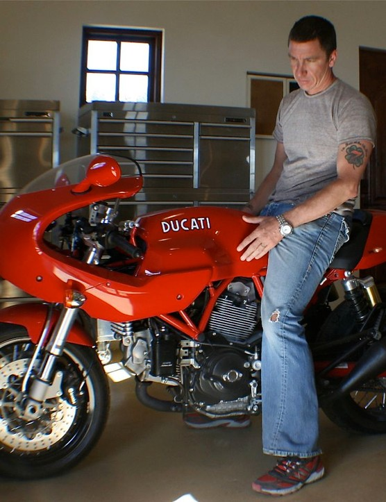 Specialized design manager Robert Egger loves his throttle time as well...
