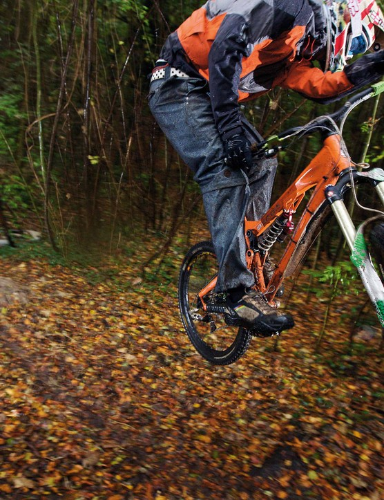 If you can master riding rocks and roots in the wet, you won't even think about doing it in the dry