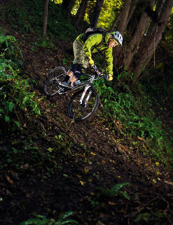 Riding a hardtail in the mud will test and improve all your skills