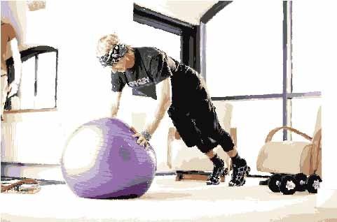 Gym ball push-ups