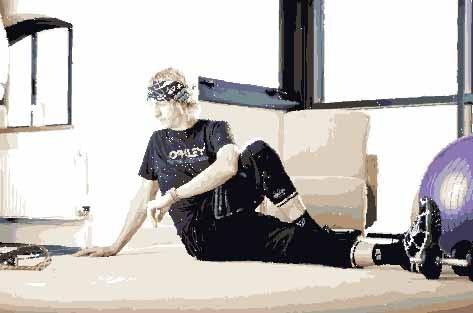 Sitting leg-over stretch