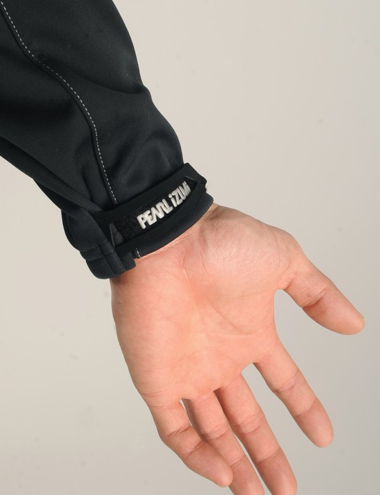 Adjustable cuffs provide a tight seal