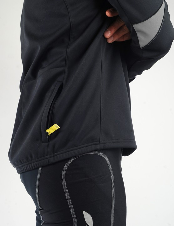 The disappointingly loose hem allows cold air to come up from below and is cut too low in front for road riding