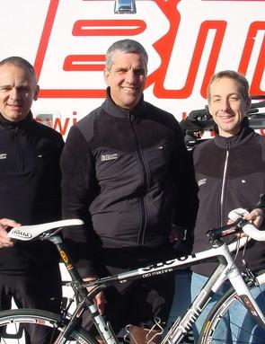 BMC team doctors (L-R) Max Testa, Eric Heiden and Scott Major in Santa Rosa, California recently.
