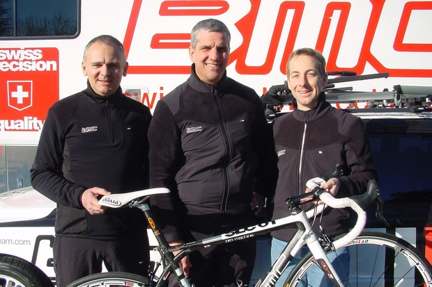 BMC team doctors (L-R) Max Testa, Eric Heiden and Scott Major in Santa Rosa, California recently.