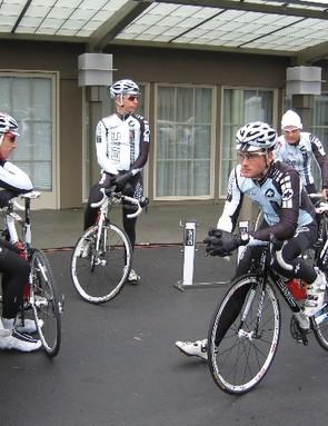 The 2009 BMC Racing Team in Santa Rosa, California.