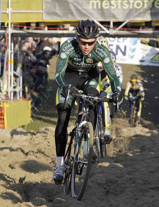 Cyclo-cross world champion Belgian Sven Nys competes on his way to win the Belgian Championship cyclocross race for Men Elite riders on January 11, 2009 in Ruddervoorde.
