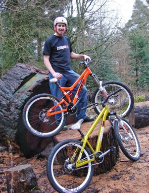 Chris and his new race machines