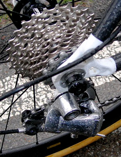A 12-25T Shimano Dura-Ace cassette provides a sufficiently wide range for most 'cross courses