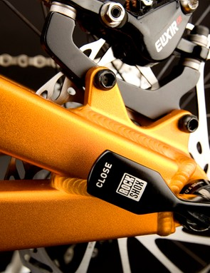 Standard IS brake mounts provide maximum flexibility in choosing caliper and rotor sizes.