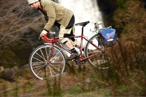 The Pearson's a well coordinated bike with a sensible spec – almost as well coordinated and sensible looking as its pilot…