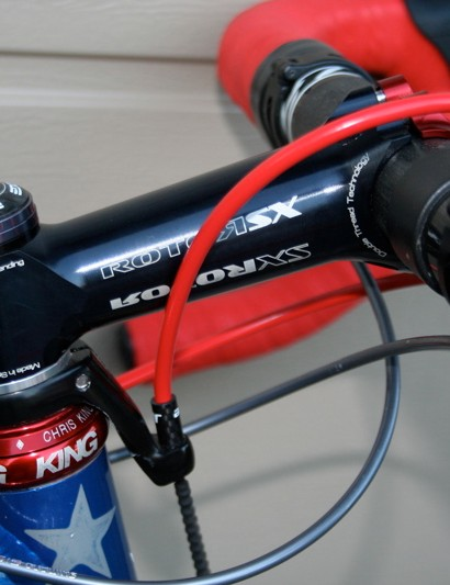 An SX stem from Rotor holds Compton's bars in place